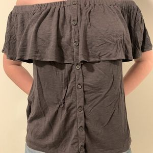 AE Soft & Sexy Off the Shoulder Shirt